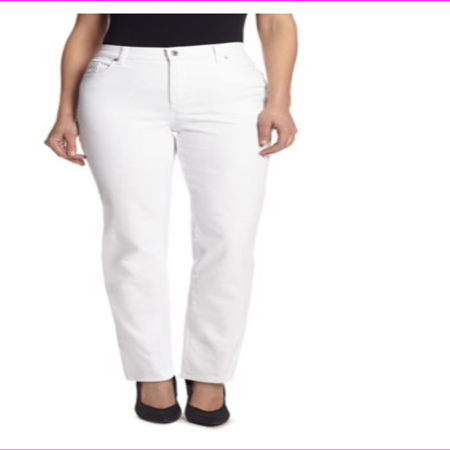 Gloria Vanderbilt Women's Classic Fit Amanda Heritage Ankle Pants Jeans 16 Tall/Crystal White ()