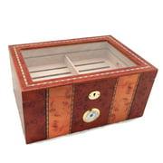 Best Humidors - Luxury Desktop Inlay Display Humidor 150 Cigars Storage Review
