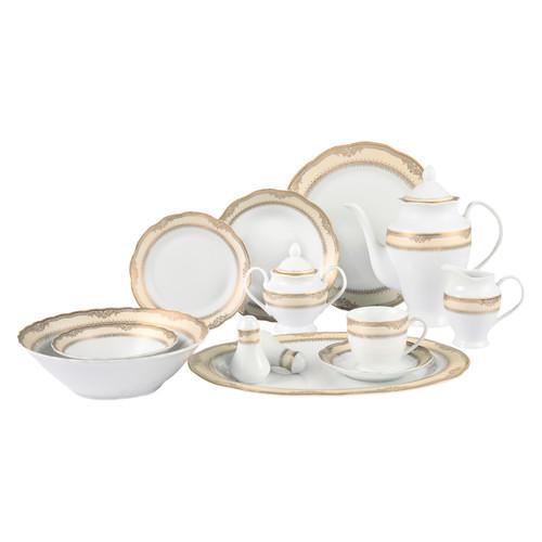 Lorren Home Trends Isabella 57 Piece Dinnerware Set