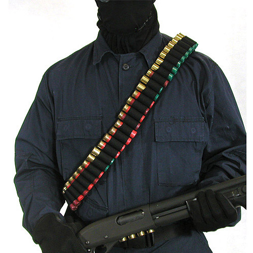 BlackHawk Shotgun Bandoleer fits 55 Shotgun Shells, Black