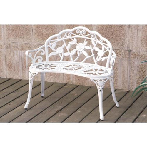 Bolinas Rose White, Bronze Bench Bolinas Rose Bench Bronze