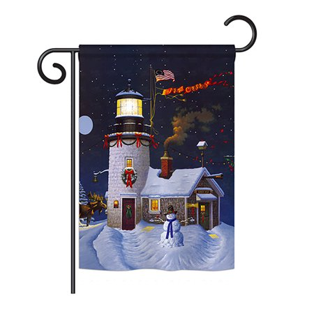 Ornament Collection - Light & Bright Christmas Winter - Seasonal Christmas Impressions Decorative Vertical Garden Flag 13