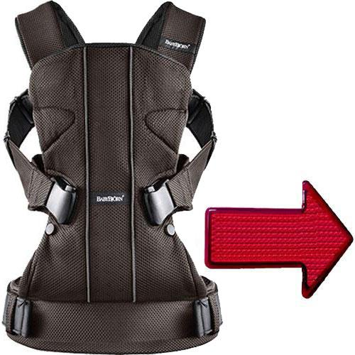 Baby Bjorn - Baby Carrier One with LED Light - Mesh - Brown Black