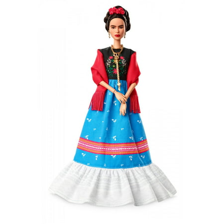 Barbie Inspiring Women Series Frida Kahlo Doll, Iconic Fringe Shawl - Barbie Doll Makeup Halloween