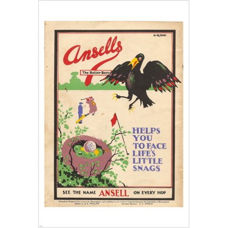 Vintage Ansells Beer Ad Poster 24X36 Artistic Unusual