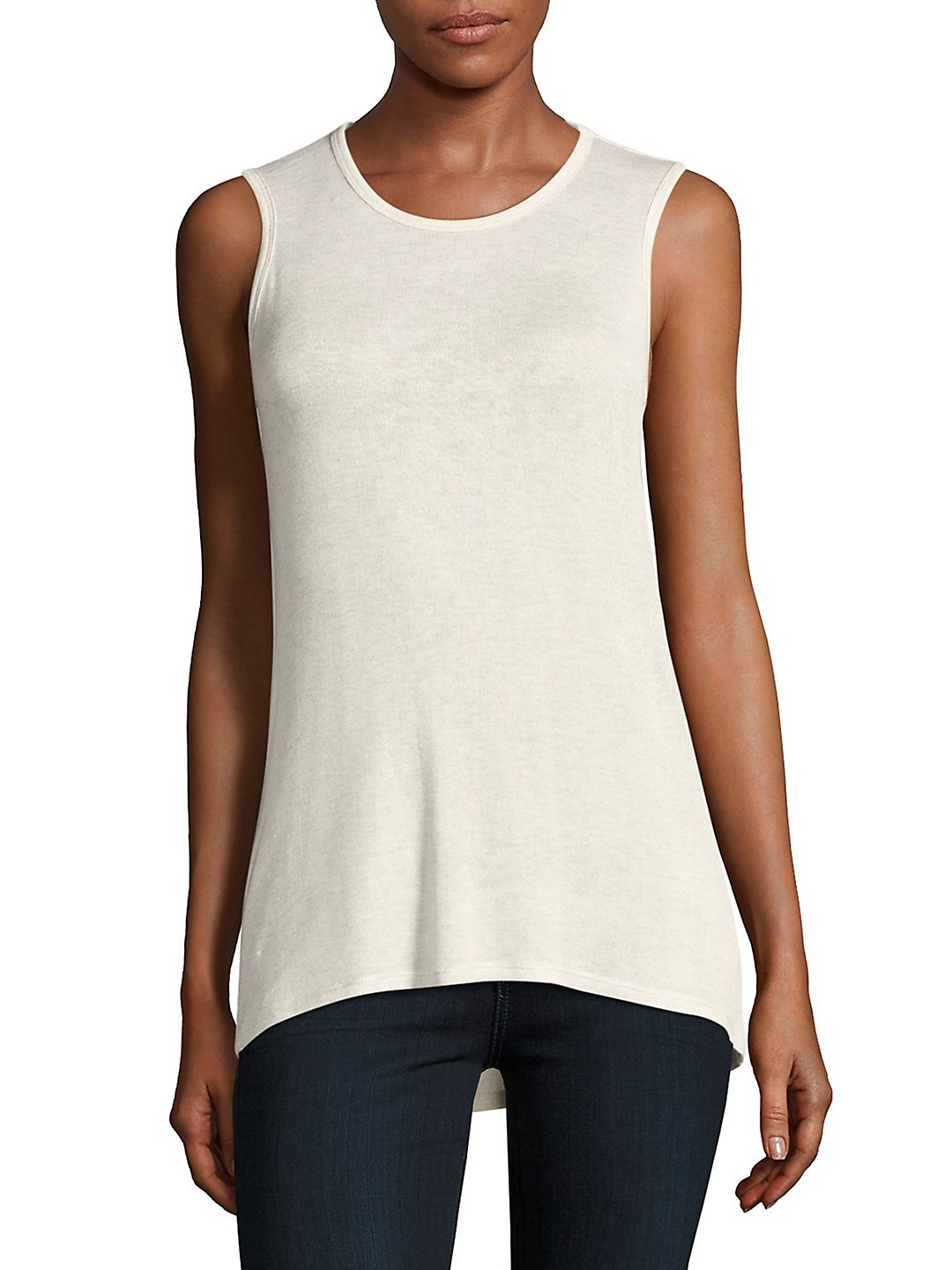 Cutout Back Sleeveless Top