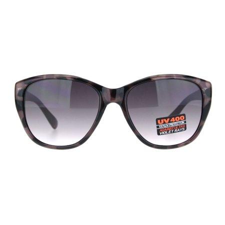 Womens Tortoise Chic Butterfly Designer Plastic Sunglasses Purple Gradient (Butterfly Gradient)