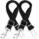 2 Pack Adjustable Dog Harness For Car Seatbelt
