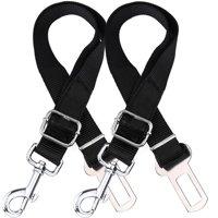 2 Pack Adjustable Dog Harness For Car Seatbelt Connector Restrain Tether For Pet