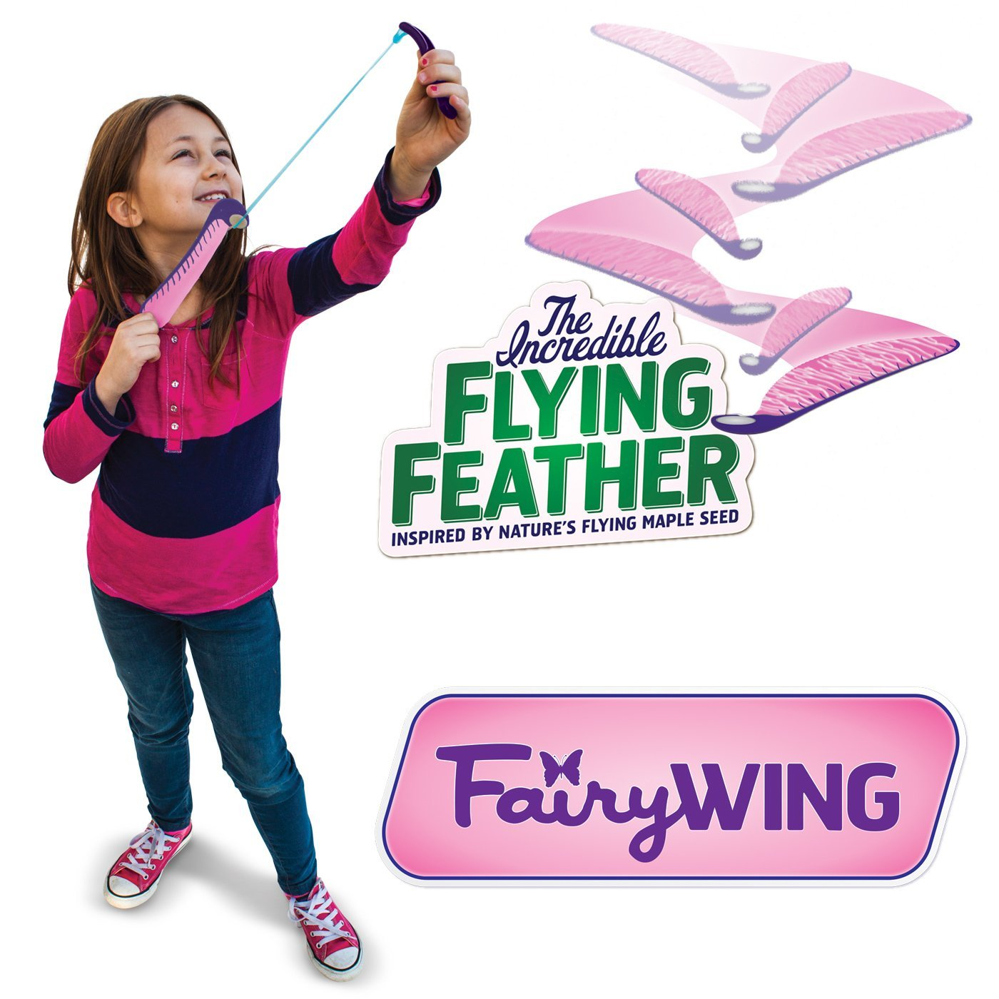 The Incredible Flying Feather  in.Fairy Wing in. with Bungee Launcher