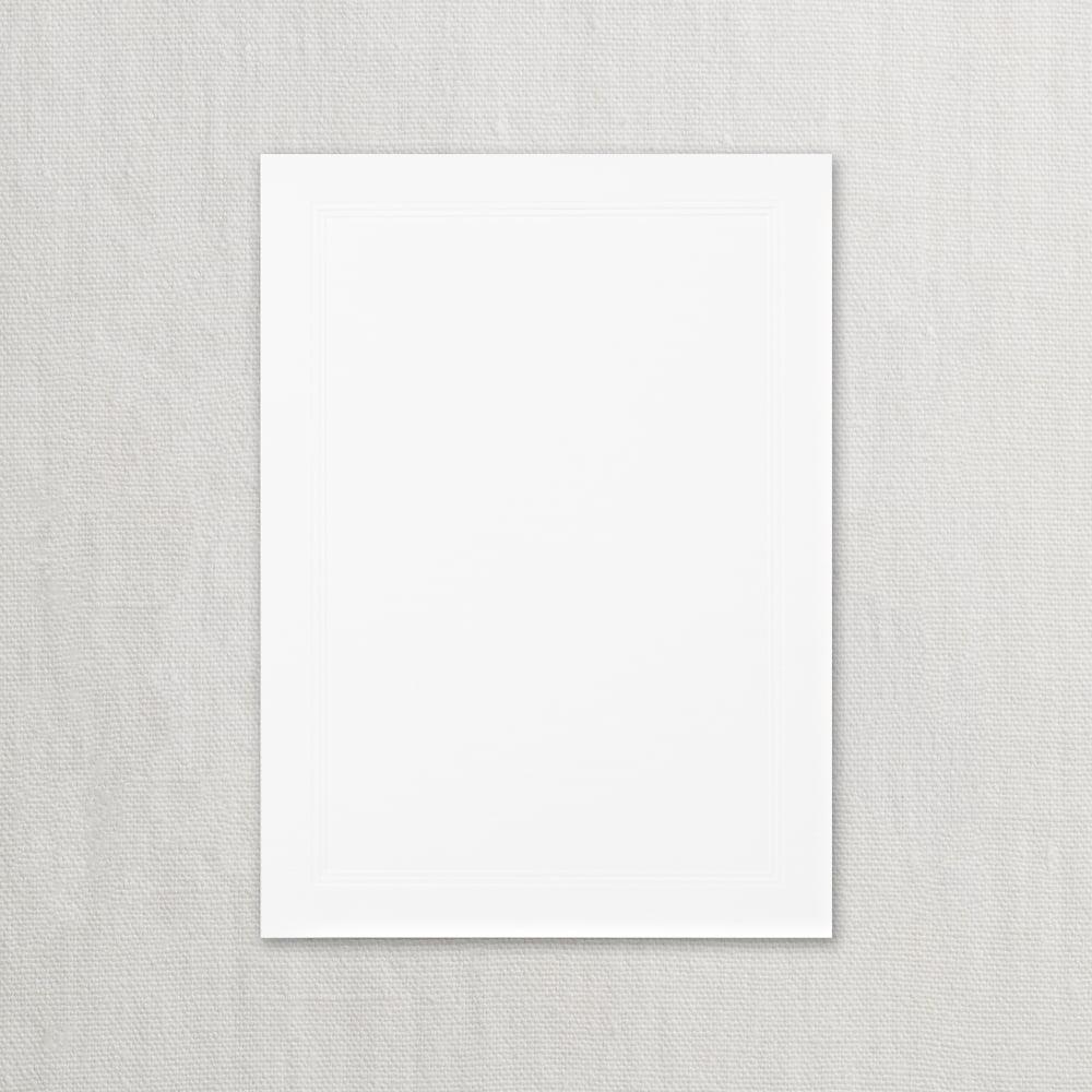 Crane Pearl White Triple Debossed Embassy Invitaion Card