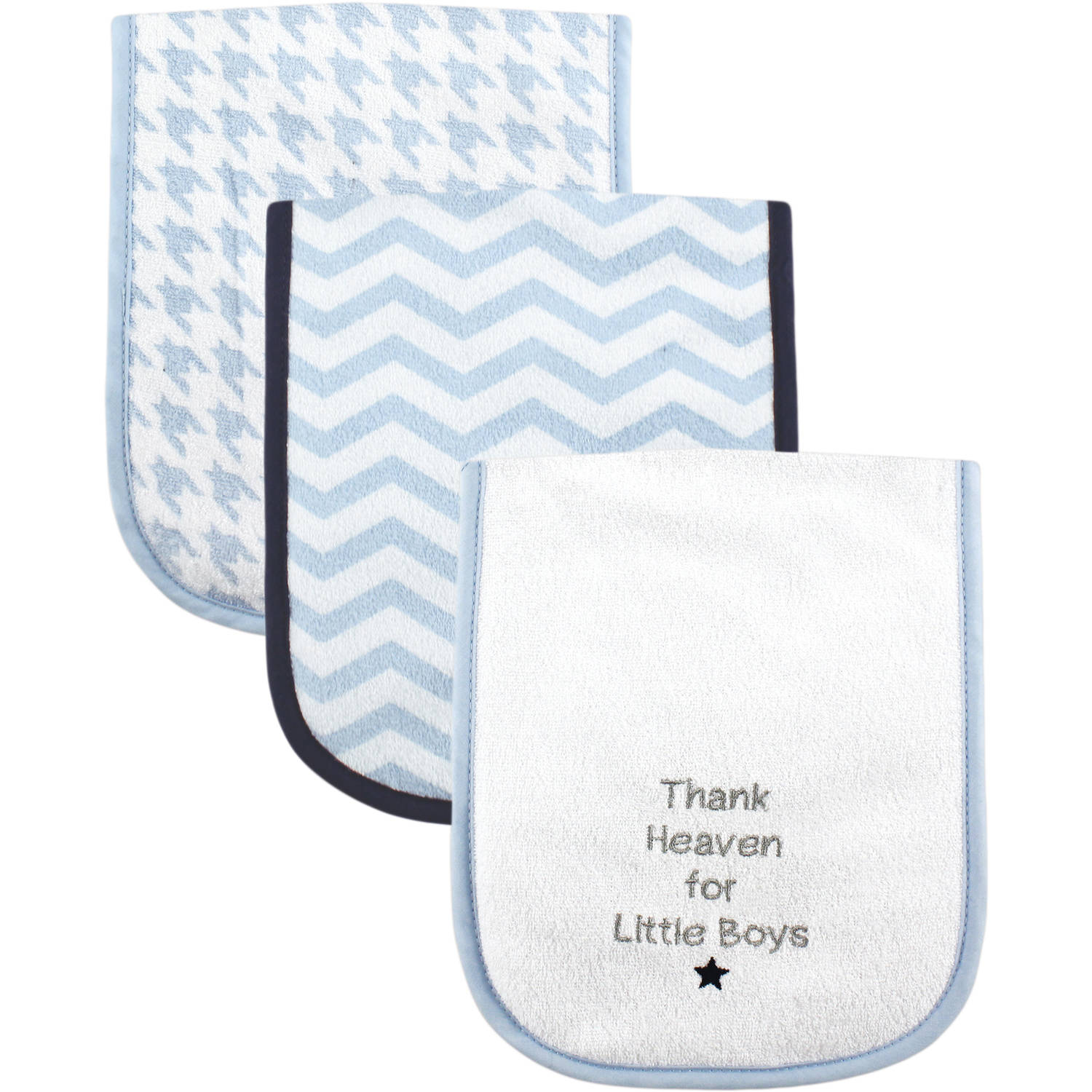Luvable Friends Burp Cloth, 3pk, Boy Thank Heaven