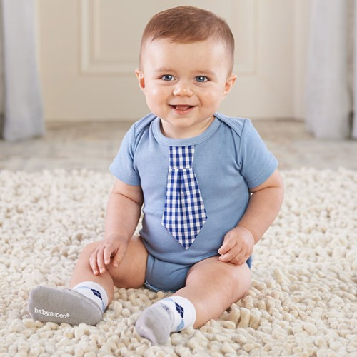 Little Man Onesie and Sock Set by Baby Aspen - BA16048NA