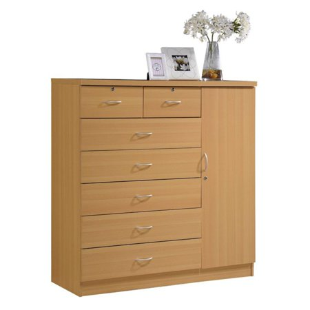 Hodedah Imports 7 Drawer 1 Door Chest (4 Drawer 1 Door)