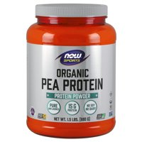NOW Sports Nutrition, Certified Organic Pea Protein 15 Grams, Unflavored Powder, 1.5-Pound