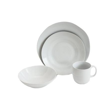 Baum Pool Free Form Edged 16-piece Dinnerware Set, White - Walmart.com