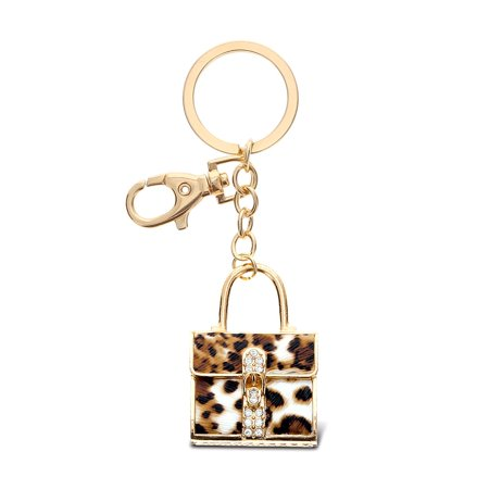 Gold Sparkling Charms Leopard Purse (Gold Leopard Charm)