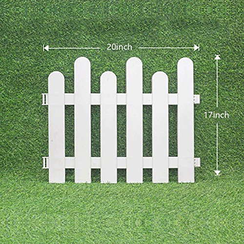 V Protek 4Pack Garden Patio Decorative Plastic Edging Fence White Flexible... by Wellco Industries Inc.