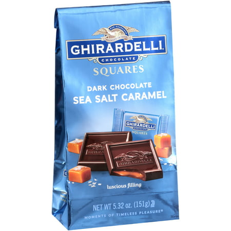 (2 pack) Ghirardelli Dark & Sea Salt Caramel Chocolate Squares, 5.32 -