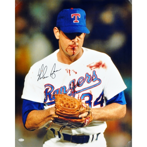 "Nolan Ryan Texas Rangers Fanatics Authentic Autographed 16"" x 20"" Bloody Lip Photograph - No Size"