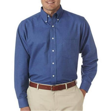 Ultraclub 8970 mens classic wrinkle free long sleeve for Mens 2xl tall shirts