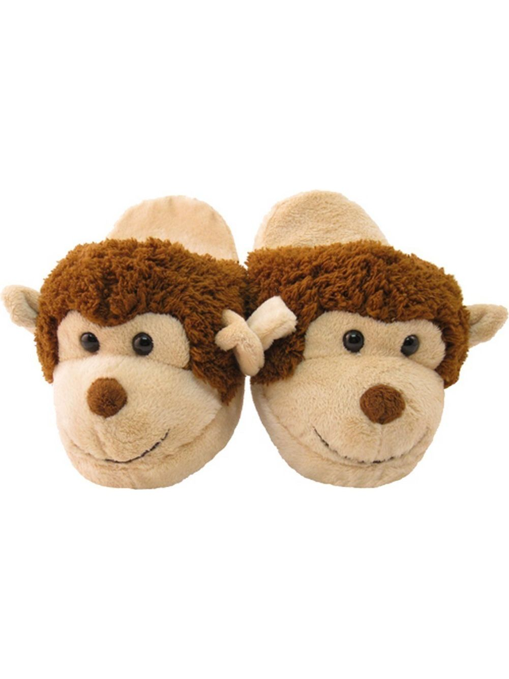 Kreative Unisex Little Kids Brown Tan Monkey Shaped Plush Slippers 12 Kids