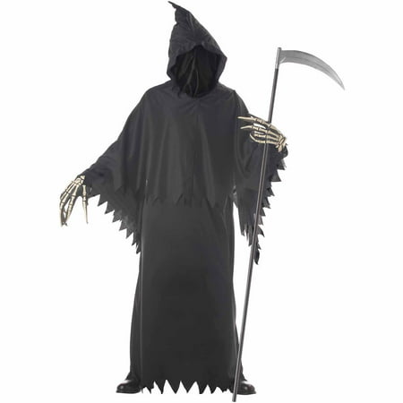 Grim Reaper Deluxe with Gloves Adult Halloween Costume - Best Grim Reaper Costume