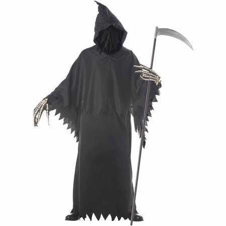 Grim Reaper Deluxe with Gloves Adult Halloween Costume](Female Grim Reaper Costume)