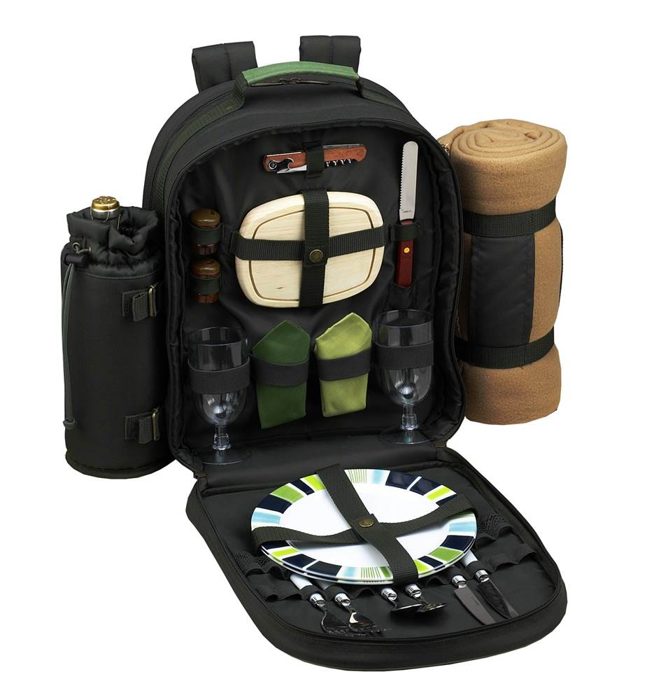 Eco Picnic Backpack w Blanket for 2