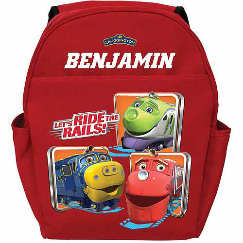 Personalized Chuggington Ride the Rails Toddlers' Red Backpack