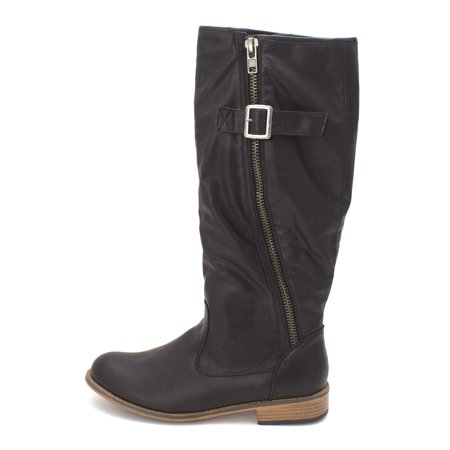 Just Fab Womens Autumn Closed Toe Knee High Fashion Boots
