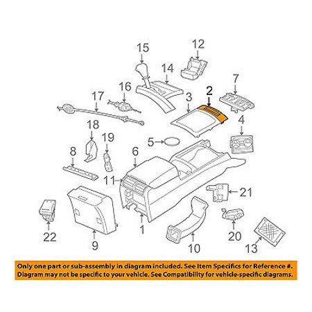 jeep chrysler oem 05 07 grand cherokee center console. Black Bedroom Furniture Sets. Home Design Ideas