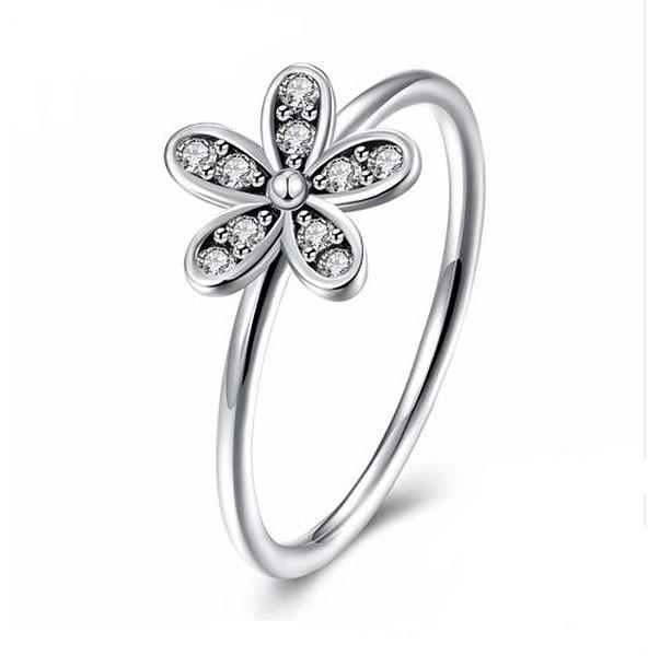 Flower Silver Ring - image 2 de 2