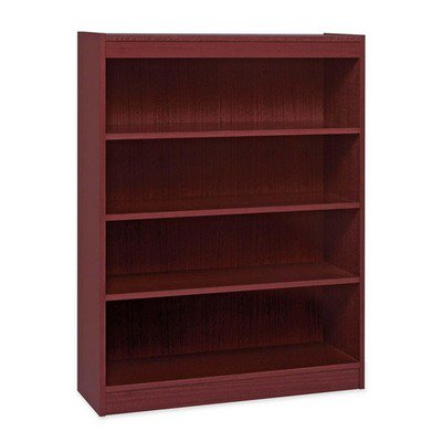 Hardwood Veneer Furniture Collection - Lorell Panel End Hardwood Veneer Bookcase LLR60072