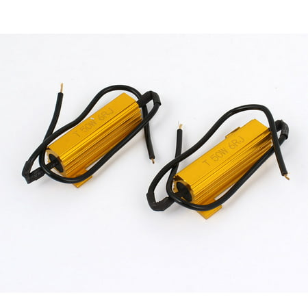 Unique Bargains 2Pcs Load Resistor 6RJ 50W 6ohm Fix  Bulb Flash Turn Signal Blinker (Ps3 Wont Turn On Yellow Light Fix)