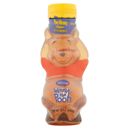 (3 Pack) Disney Clover Pure Honey, 12 oz