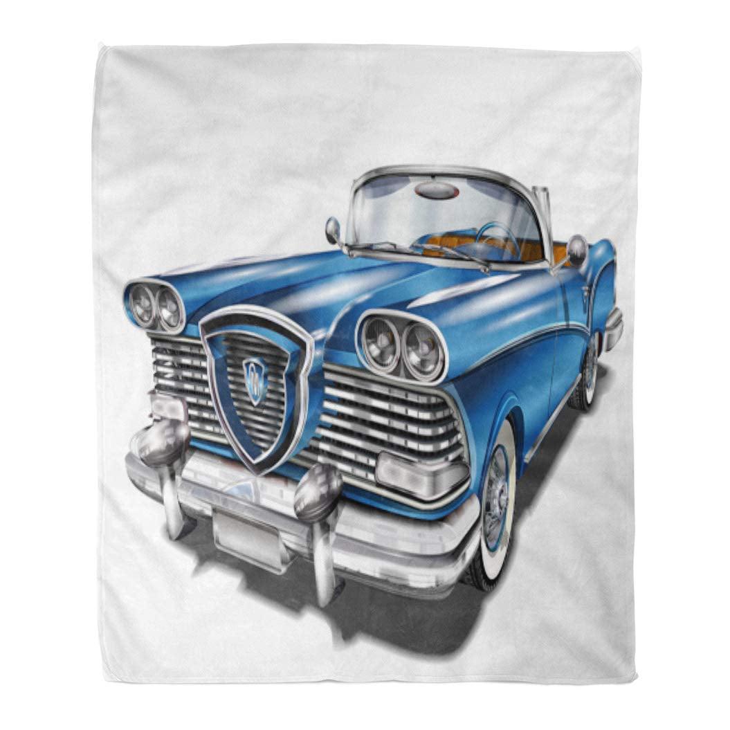 Oldsmobile Automobile Cars OLD CLASSICS Lightweight Polar Fleece Throw Blanket
