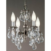 12 in. Barcelona Mini-Chandelier in Millennium Silver Finish (Italian)