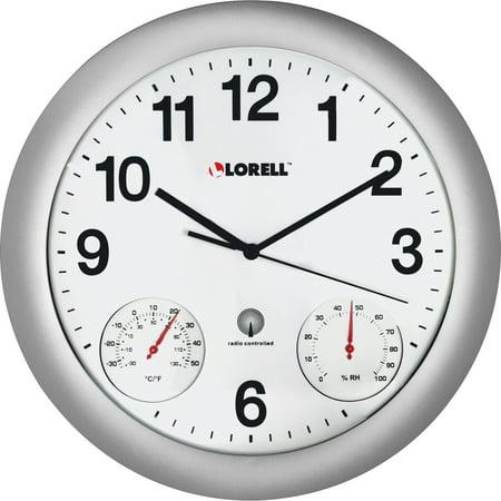 - Lorell, LLR61000, Analog Temperature/Humidity Wall Clock, 1