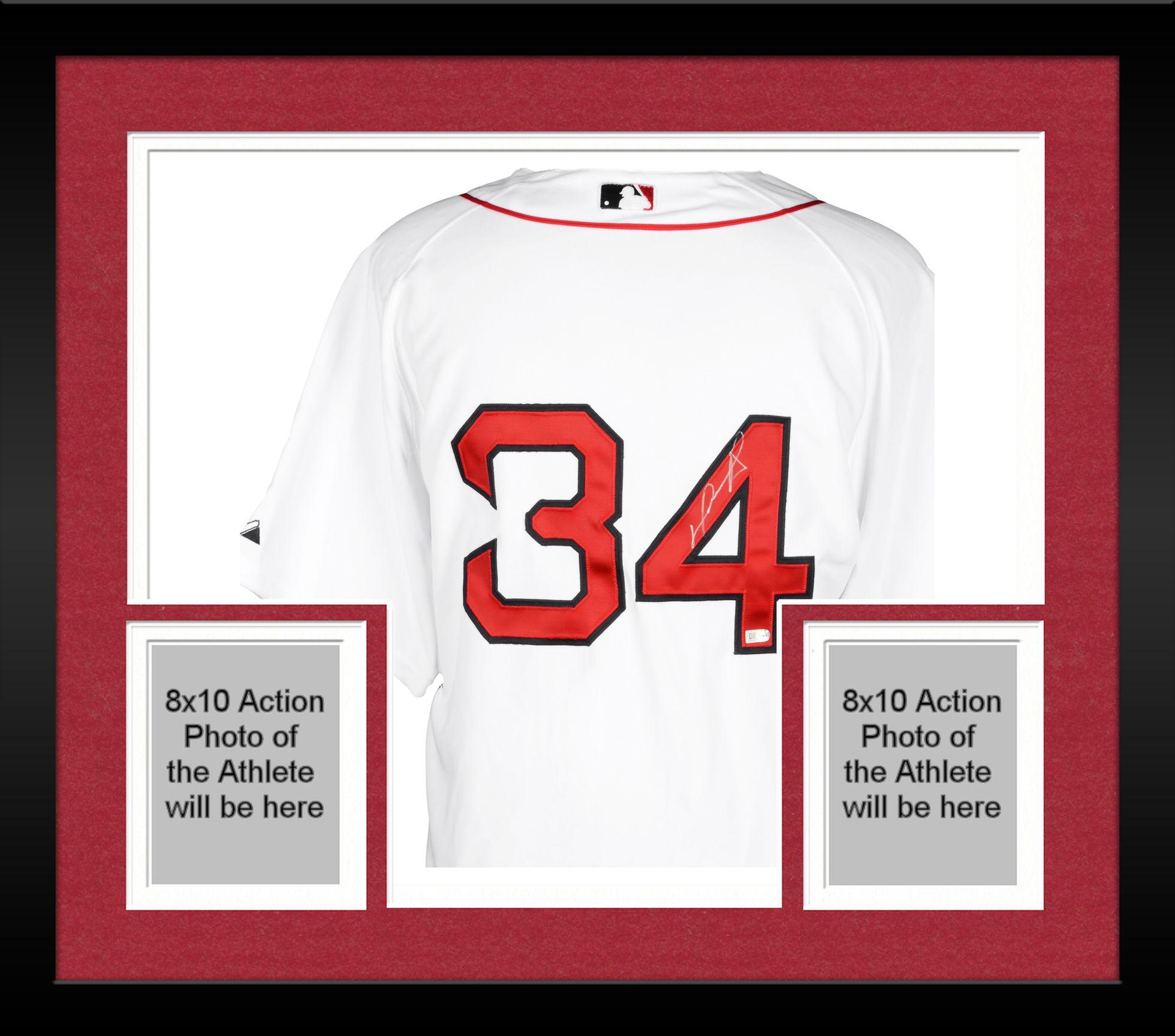 2b2613aa1 ... best price framed david ortiz boston red sox autographed majestic  authentic white jersey fanatics authentic certified
