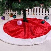 122CM Oversize Christmas Tree Skirt Plush Traditional for Christmas Festival Decoration