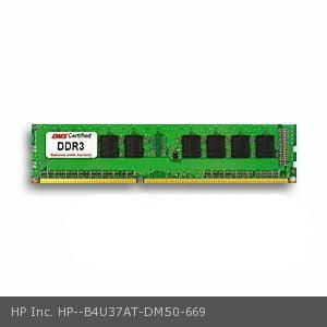 HP Inc. B4U37AT equivalent 8GB DMS Certified Memory DDR3-1600 (PC3-12800) 1024x64 CL11  1.5v 240 Pin DIMM - DMS