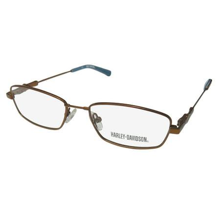 New Harley-Davidson Hdt 108 Mens/Womens Designer Full-Rim Bronze / Teal Light Weight Upscale Frame Demo Lenses 48-16-130 Spring Hinges Eyeglasses/Glasses