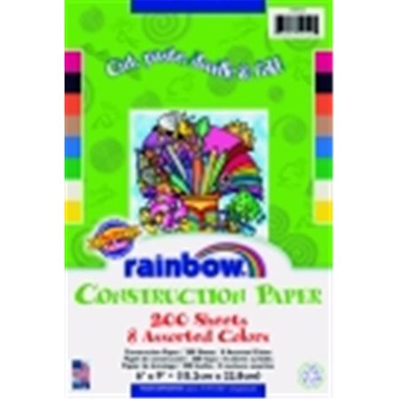 Rainbow Kraft Light-Weight Construction Paper Assortment - 6 x 9 in. - Pack 200