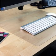 "Desktex® Pack of 2 Polycarbonate Rectangular Desk Pads with Anti-Slip Backing - 19"" x 24"""