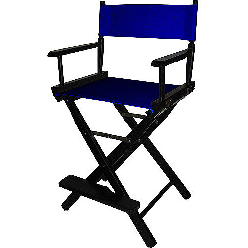 24 Quot Director S Chair Black Frame Navy Blue Canvas