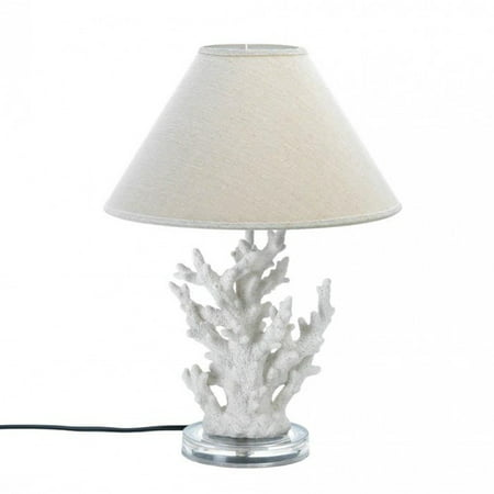 WHITE CORAL TABLE LAMP ()