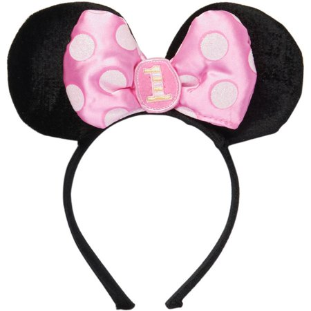 UPC 013051388737 Product Image For Minnie Mouse First Birthday Deluxe Headband Party Supplies