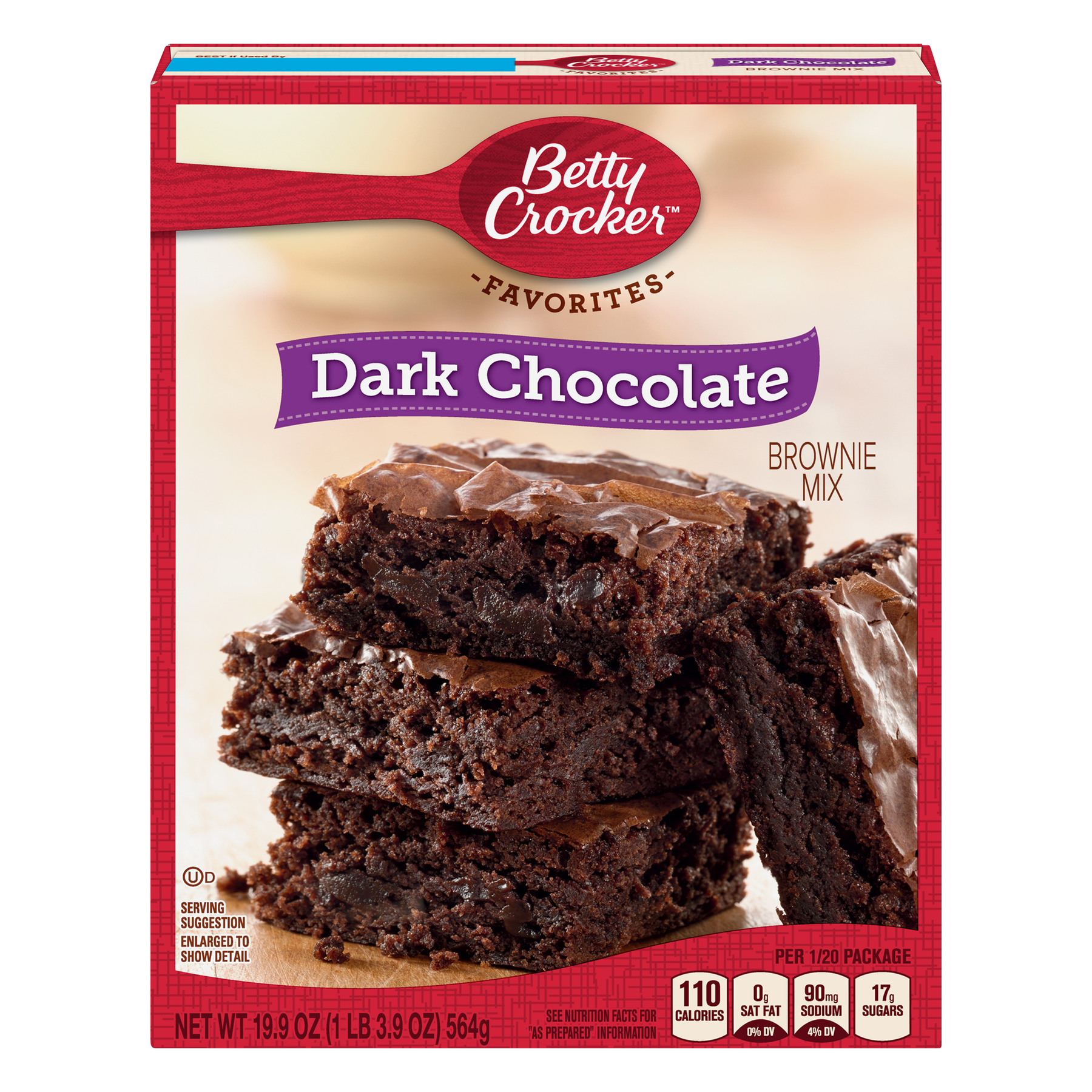 (5 Pack) Betty Crocker Dark Chocolate Brownie Mix Family Size, 19.9 oz