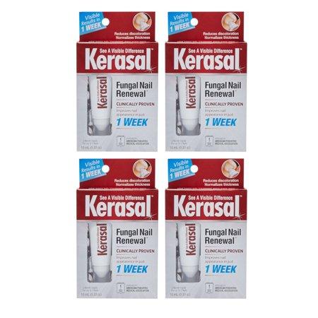 4 Pack Kerasal Nail Fungal Nail Renewal Treatment 10 Ml 0 33 Oz